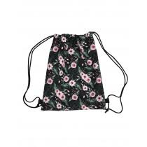 Handmade Drawstring Backpack Waterproof Bag Sport Travel Hiking Flowers
