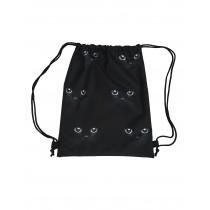 Handmade Drawstring Backpack Waterproof Bag Sport Travel Hiking Cat
