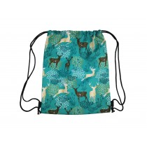 Handmade Drawstring Backpack Waterproof Bag Sport Travel Hiking Deer