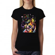 Dean Russo Dog Coloufrul Women T-shirt XS-3XL New