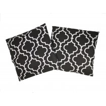 Handmade Pillow Case 100% Cotton 40x40cm Set of 2 Morocco Black