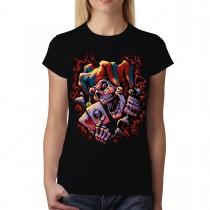 Joker Skull Cards Clown Women T-shirt S-3XL New