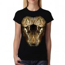 Cobra Face Snake Animals Women T-shirt M-3XL New