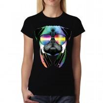 Dj Pug Headphones Animal Funny Women T-shirt XS-3XL