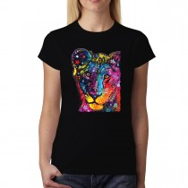 Young Lion Women T-shirt XS-3XL New
