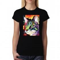 Curious Cat Animals Women T-shirt XS-3XL New