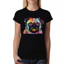 Pug Love My Dog Women T-shirt S-3XL New