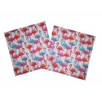 Handmade Pillow Case 100% Cotton 40x40cm Set of 2 Pink Flamingo