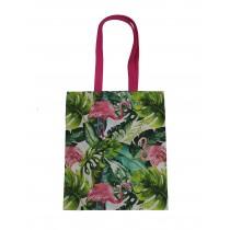 Handmade Eco Shopping Bag Grocery Reusable Design Flamingo