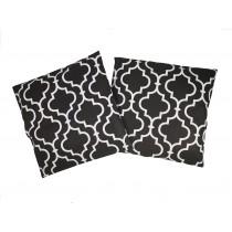 Handmade Pillow Case 100% Cotton 40x40cm Set of 2 Morocco Black