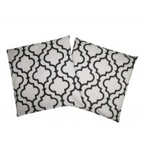 Handmade Pillow Case 100% Cotton 40x40cm Set of 2 Morocco White