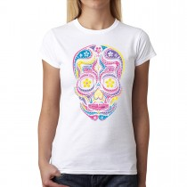 Dean Russo Bright Skulls Women T-shirt XS-3XL New