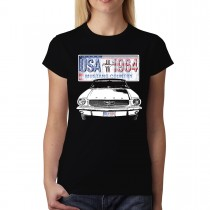 Ford Mustang Country Crest Women T-shirt S-3XL New