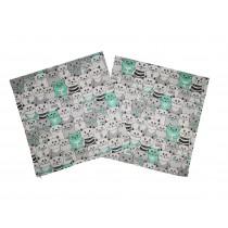 Handmade Pillow Case 100% Cotton 40x40cm Set of 2  Cats